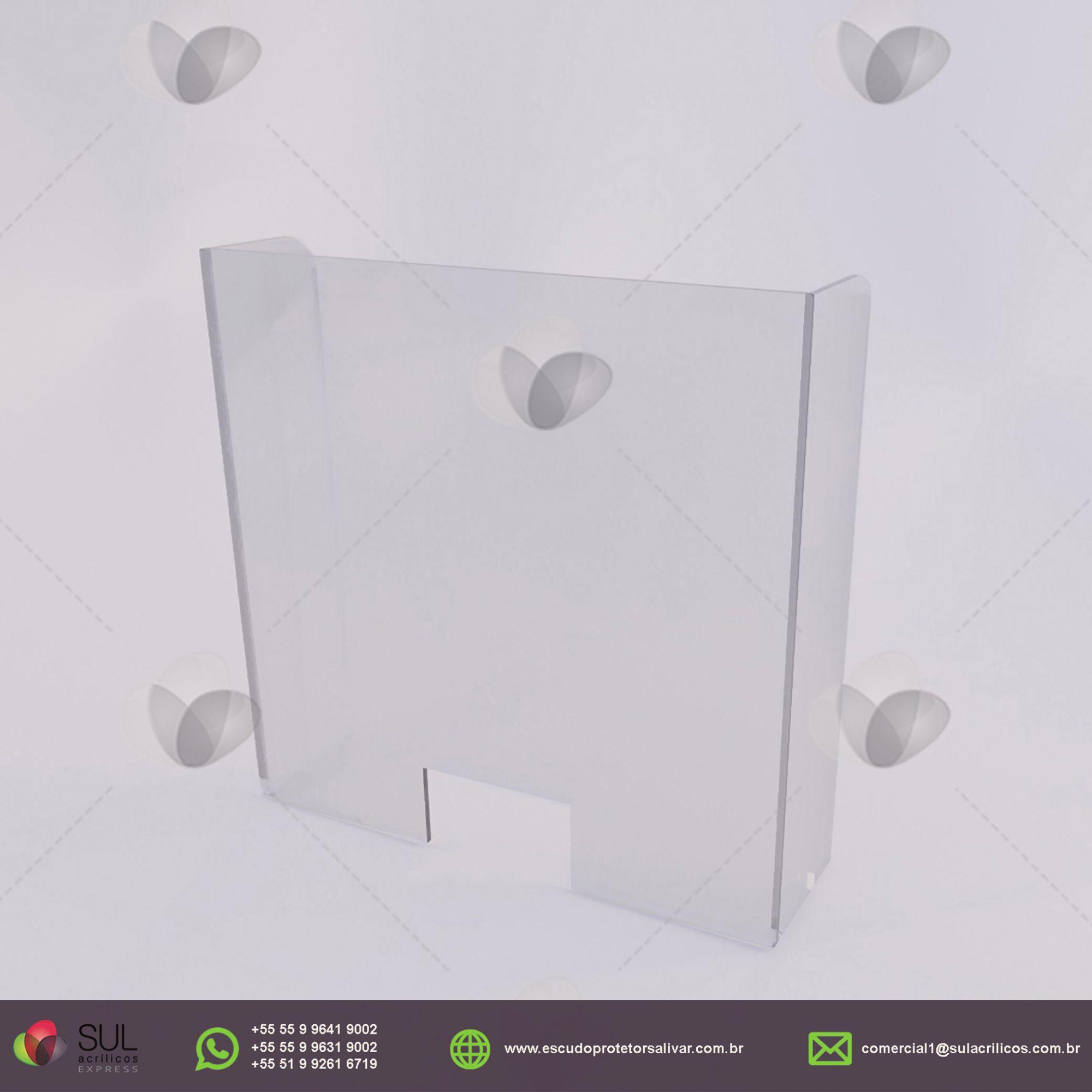 Barreira de Proteção p/ Balcão de Farmácias em Acrílico - Kit c/ 10