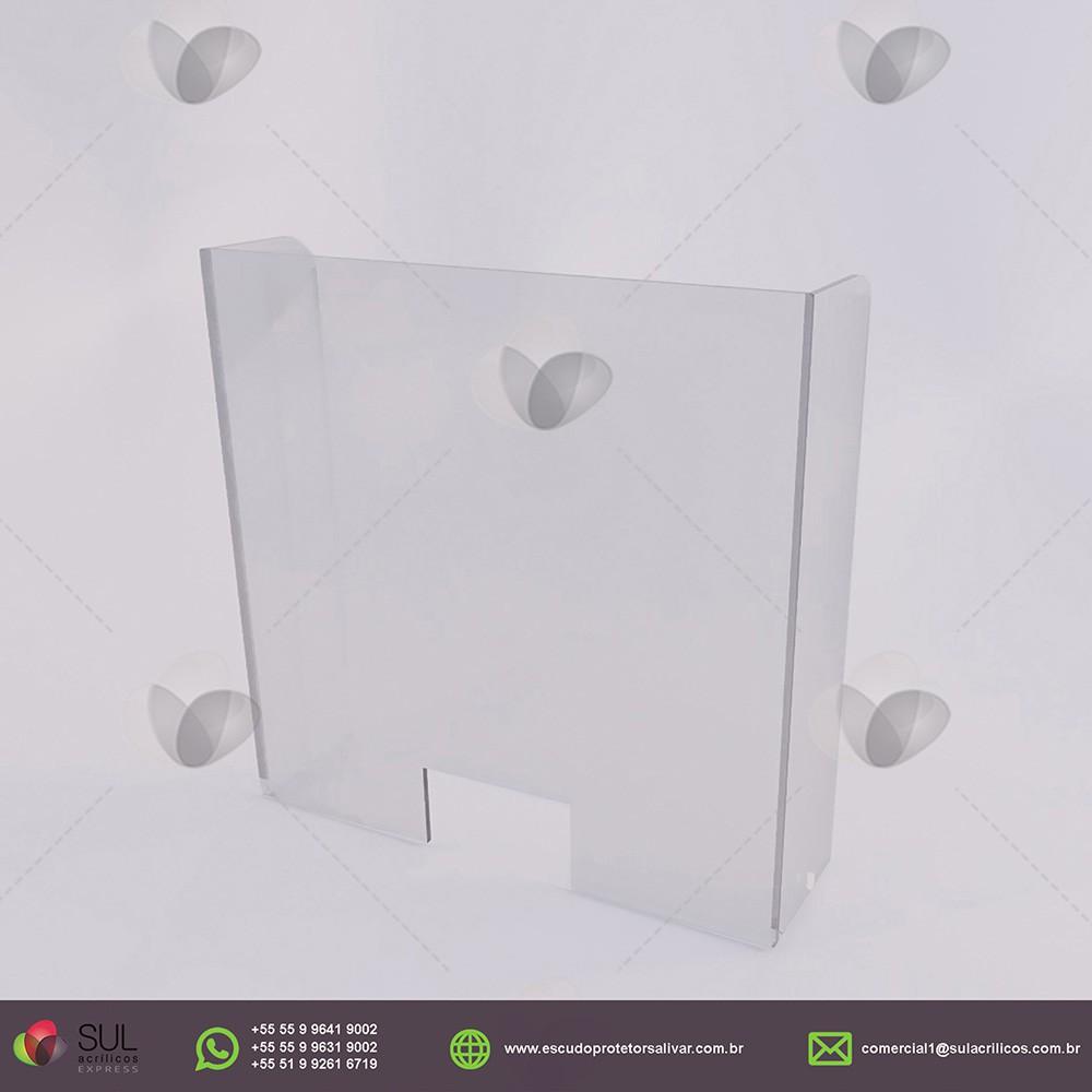 Barreira de Proteção em Acrílico p/ Caixa Duplo de Conveniência - Kit c/ 10