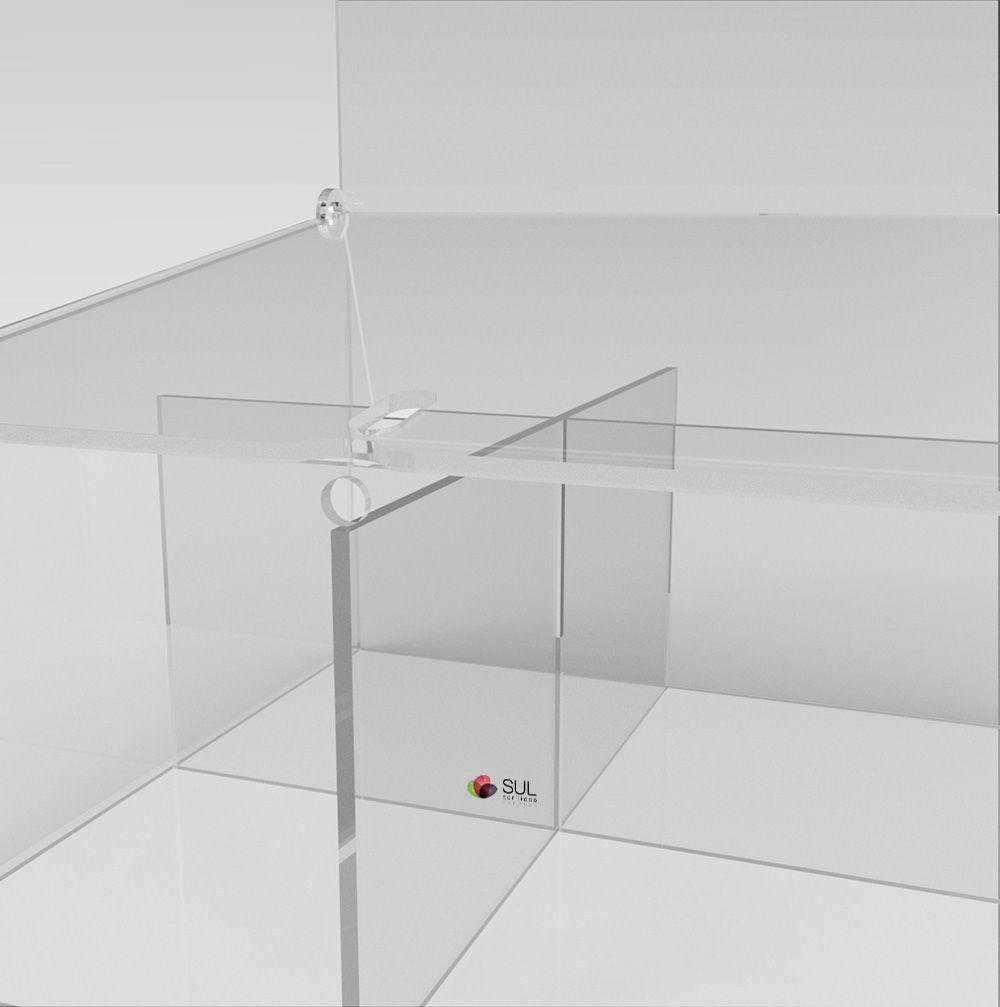 Display expositor em acrílico para acessórios de celular - Modelo Econo