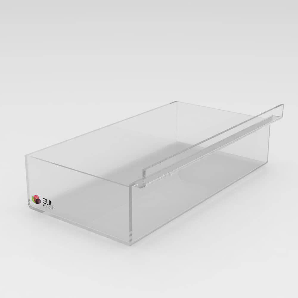 Expositor bandeja caixa sem divisórias porta acessórios para painel canaletado - 5 unidades