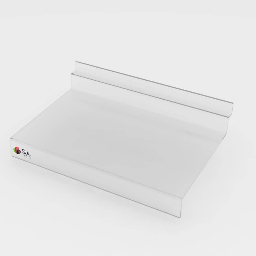 Bandeja prateleira com aba para painel canaletado - 5 unidades