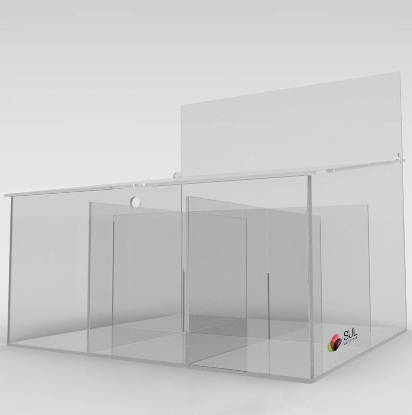 Display expositor para acessórios de celular em acrílico - Modelo Econo