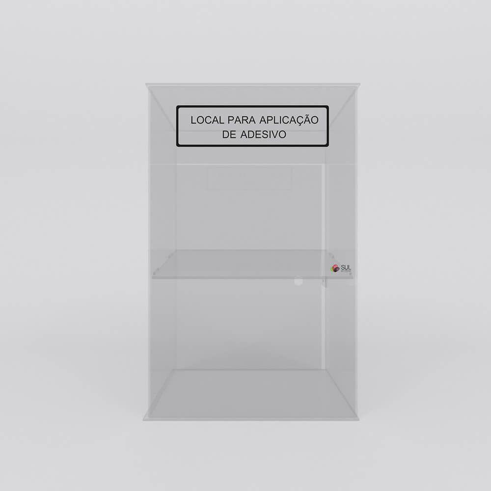 Display expositor para acessórios de celular em acrílico - Modelo Smart  torre sem testeira