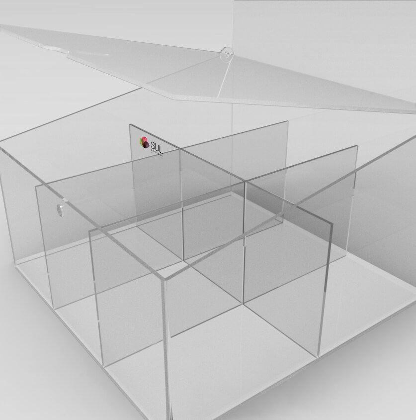 Display expositor para acessórios de celular em acrílico - Modelo Smart