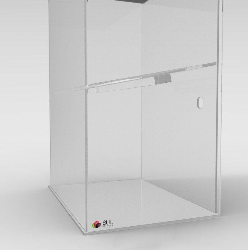 Expositor p/ Acessórios de Celular em Acrílico - Mod. Smart Torre c/ Testeira