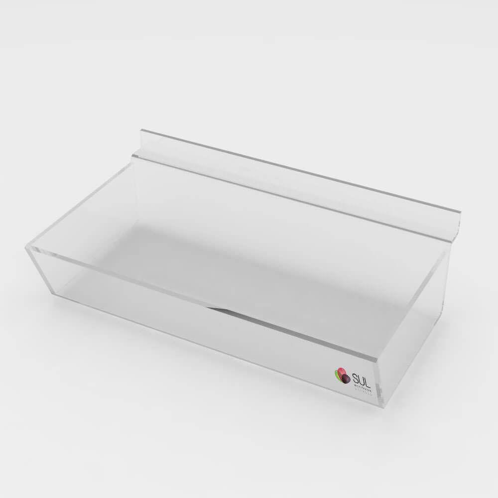 Expositor bandeja sem divisórias porta acessórios para painel canaletado - 5 unidades