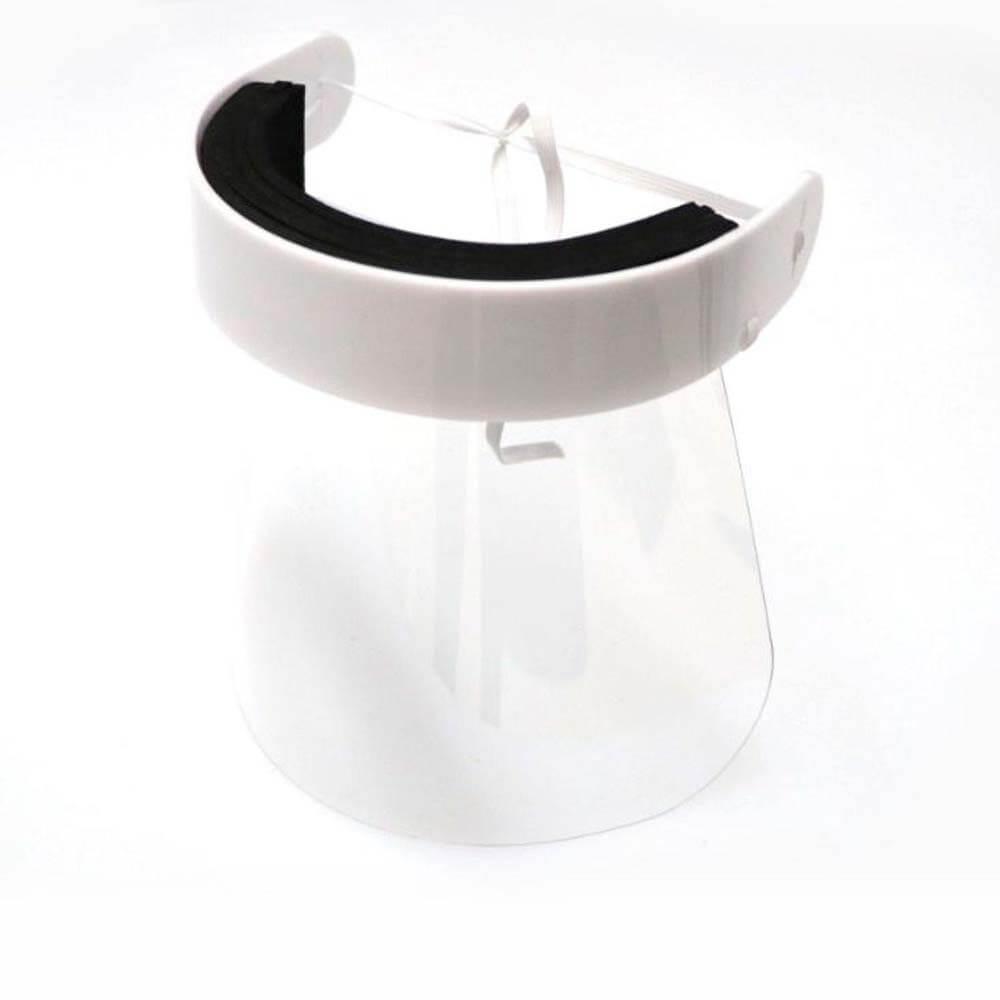 Face Shield Protetor Facial em Acrílico - Mod. Premium - Kit c/ 100