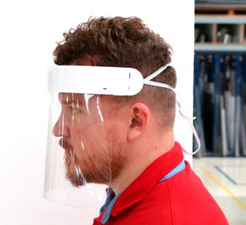 Face Shield Protetor Facial em Acrílico - Mod. Premium - Kit c/ 10