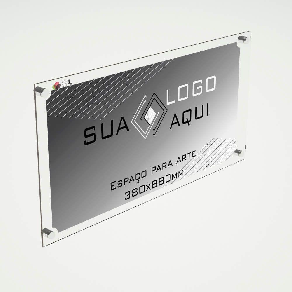 Letreiro placa em acrílico para propaganda e fachada 100x50 cm