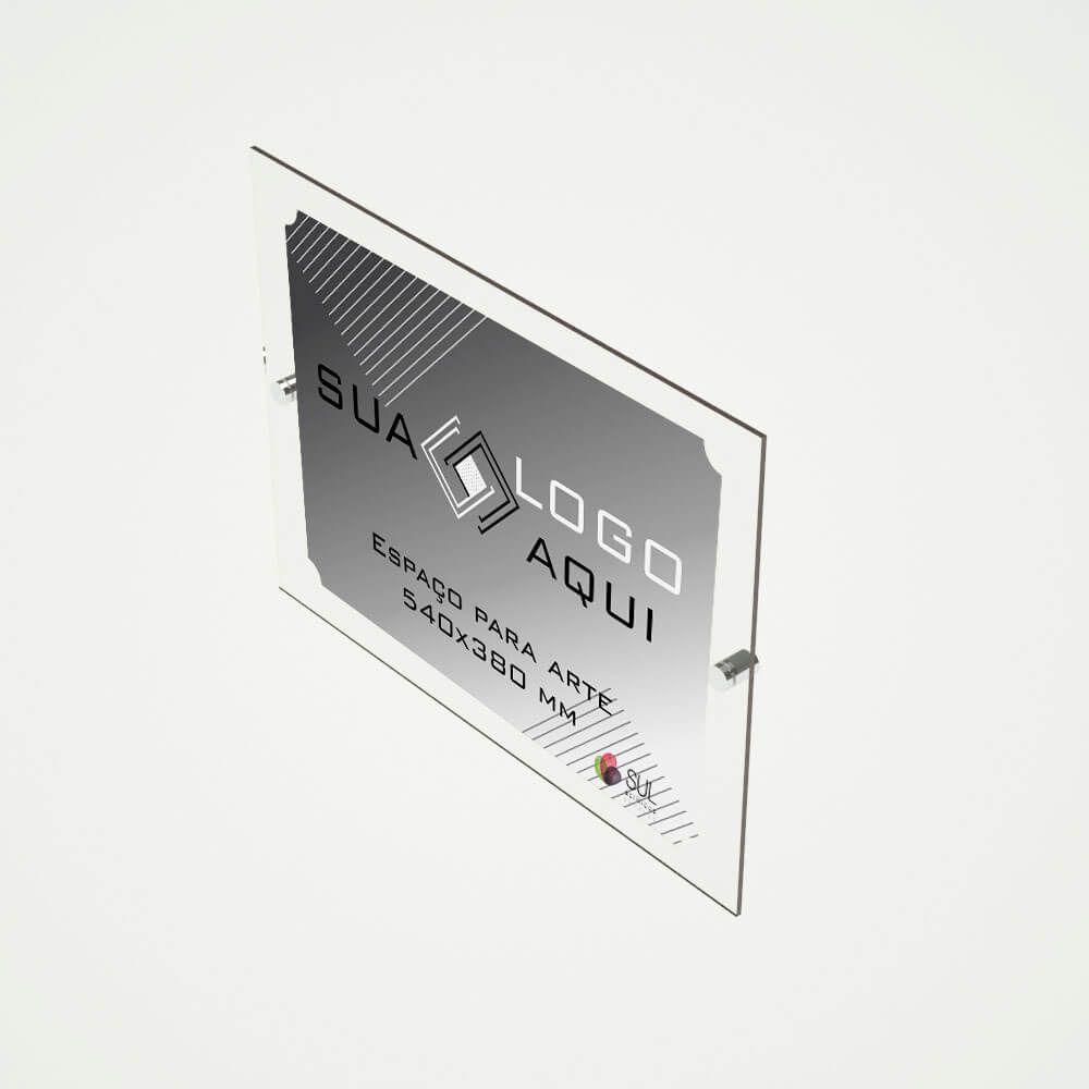 Letreiro placa em acrílico para propaganda e fachada 66x50 cm