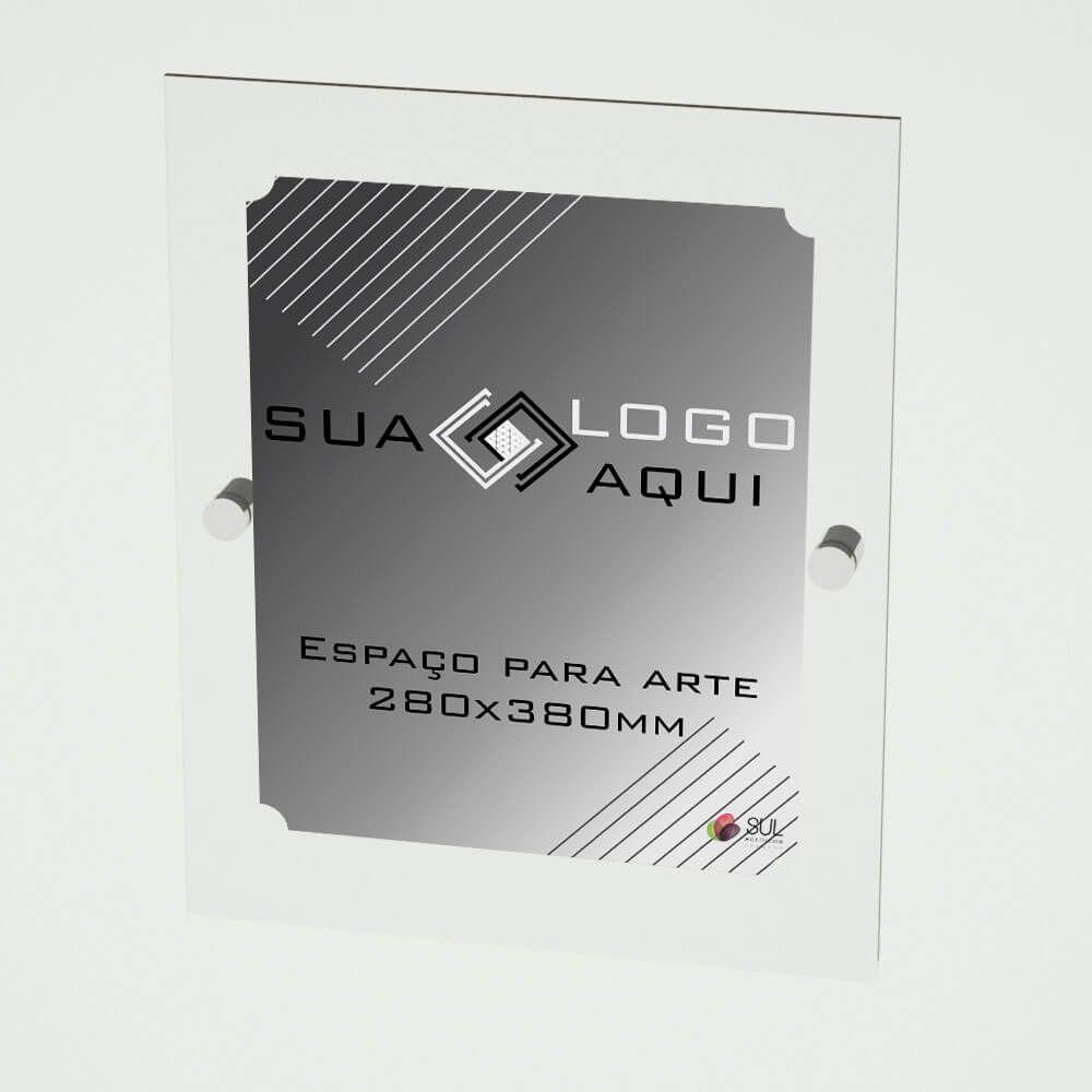 Letreiro placa em acrílico para propaganda e fachada 50x40 cm