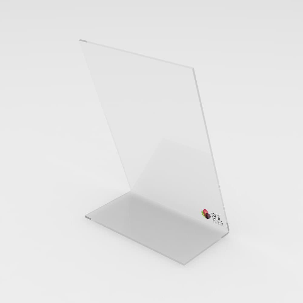 Display marcador de mesa em acrílico modelo L - 10 unidades