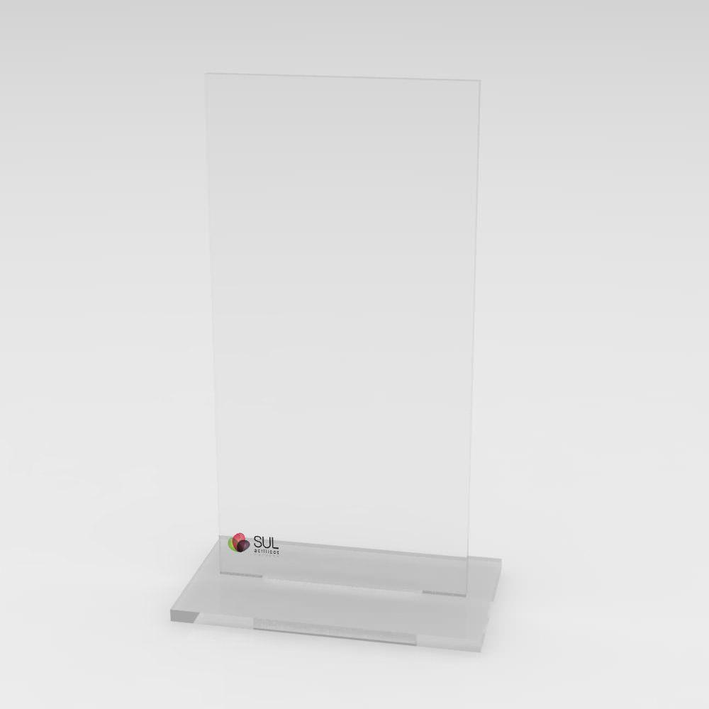 Display marcador de mesa em acrílico modelo T - 10 unidades