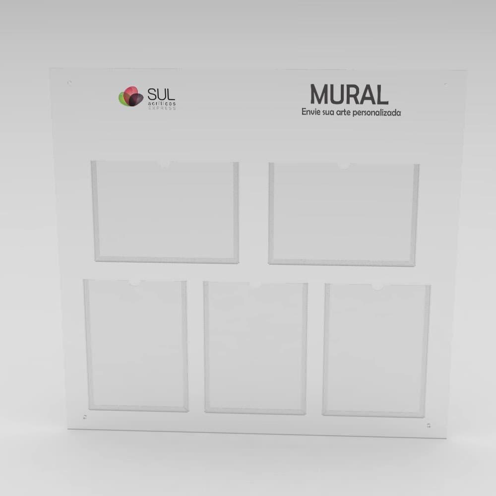 Mural - Gestão a Vista com 3 bolsos A4 e 2 bolsos A3