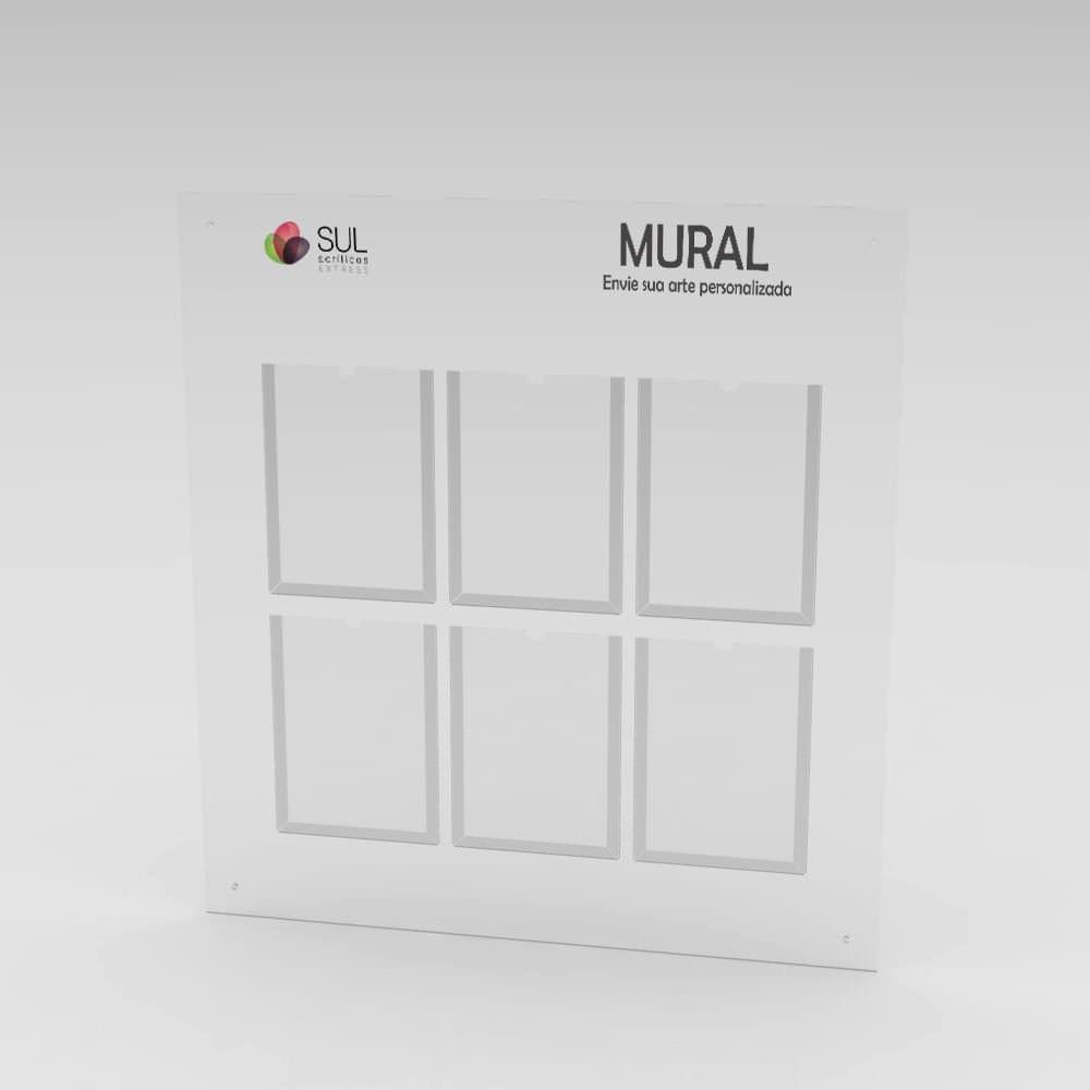 Mural - Gestão a Vista com 6 bolsos A4 Retrato