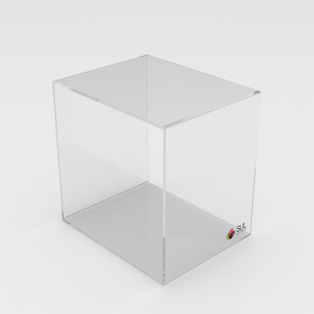 Prateleira cubo nicho expositor para vitrines - Tamanho Médio