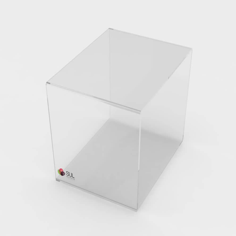 Prateleira cubo nicho expositor para vitrines - Tamanho Pequeno