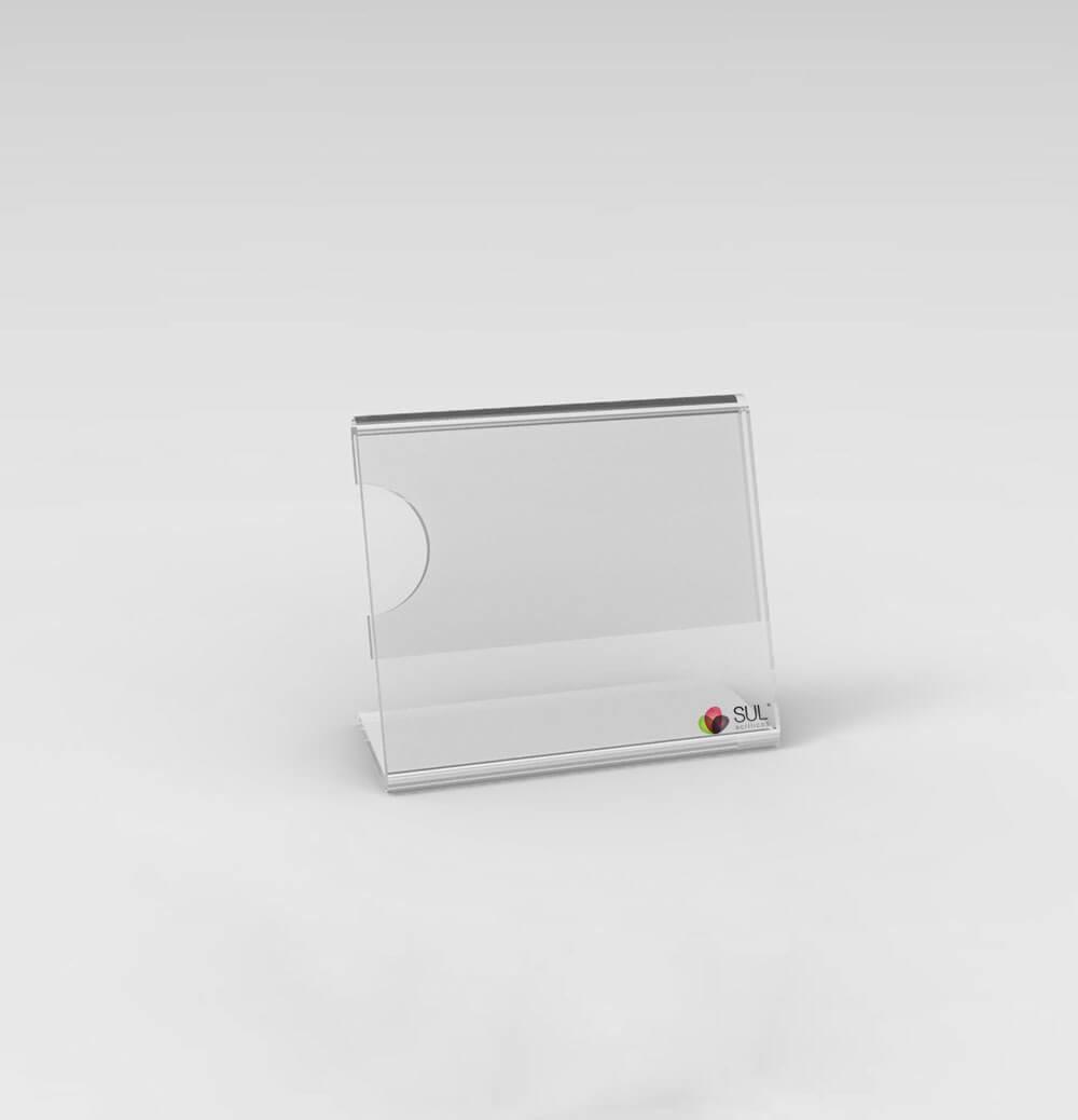 Porta Preços e Etiquetas em Acrílico 5cm x 4,5cm - 10 unds