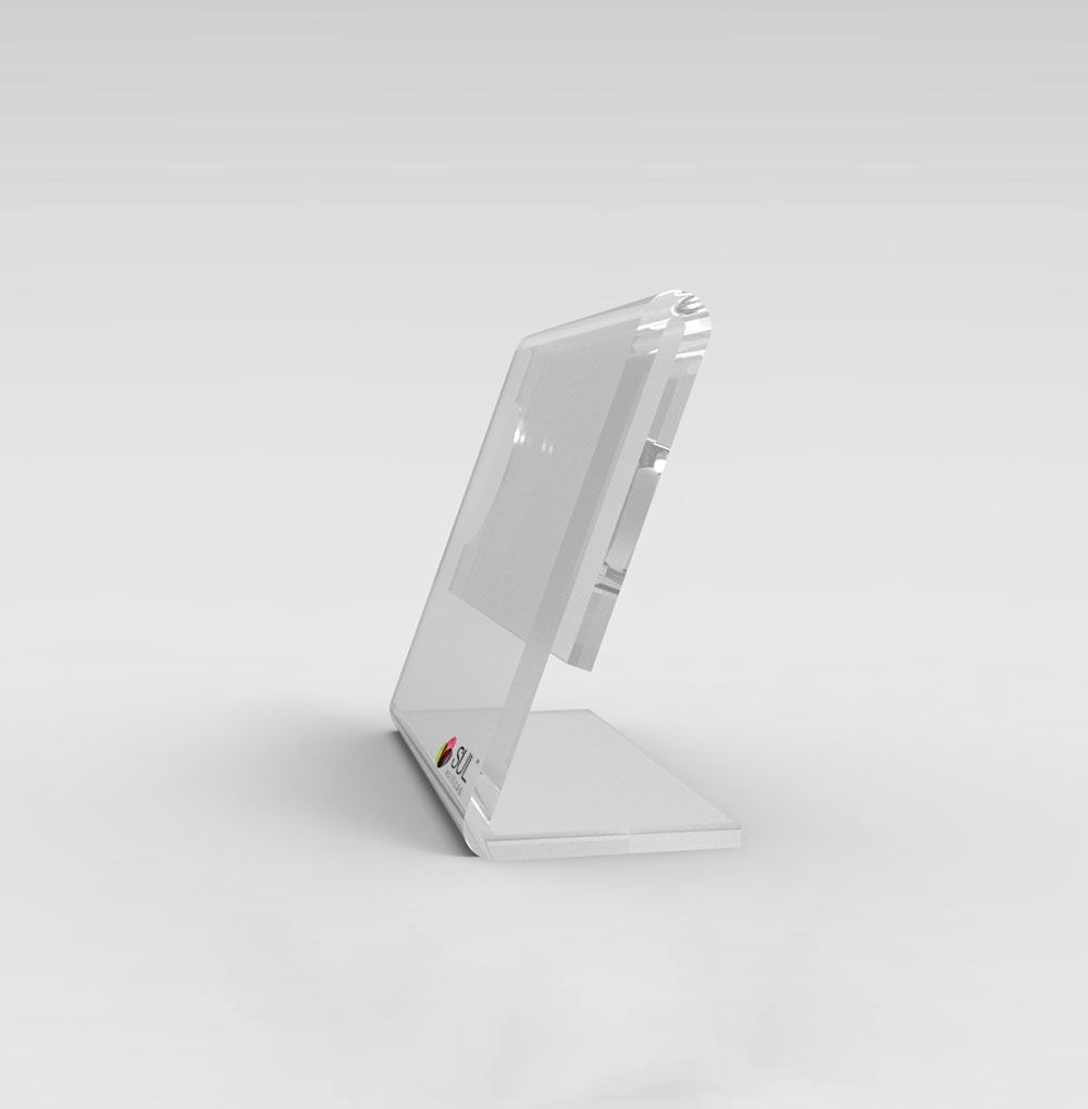 Display porta preços e etiquetas em acrílico para buffet, mesa ou balcão - 5cm x 4,5cm 10 unidades