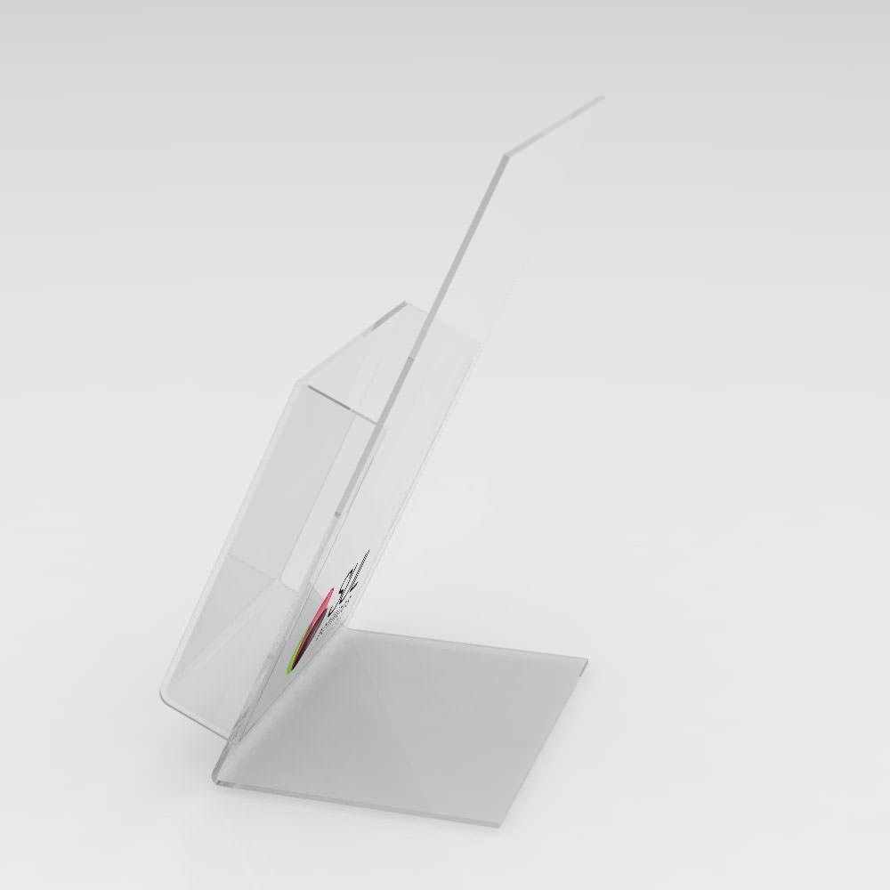 Porta Folder e Folhetos de Balcão - 21,3x12,8cm - Pacote com 4 Unidades