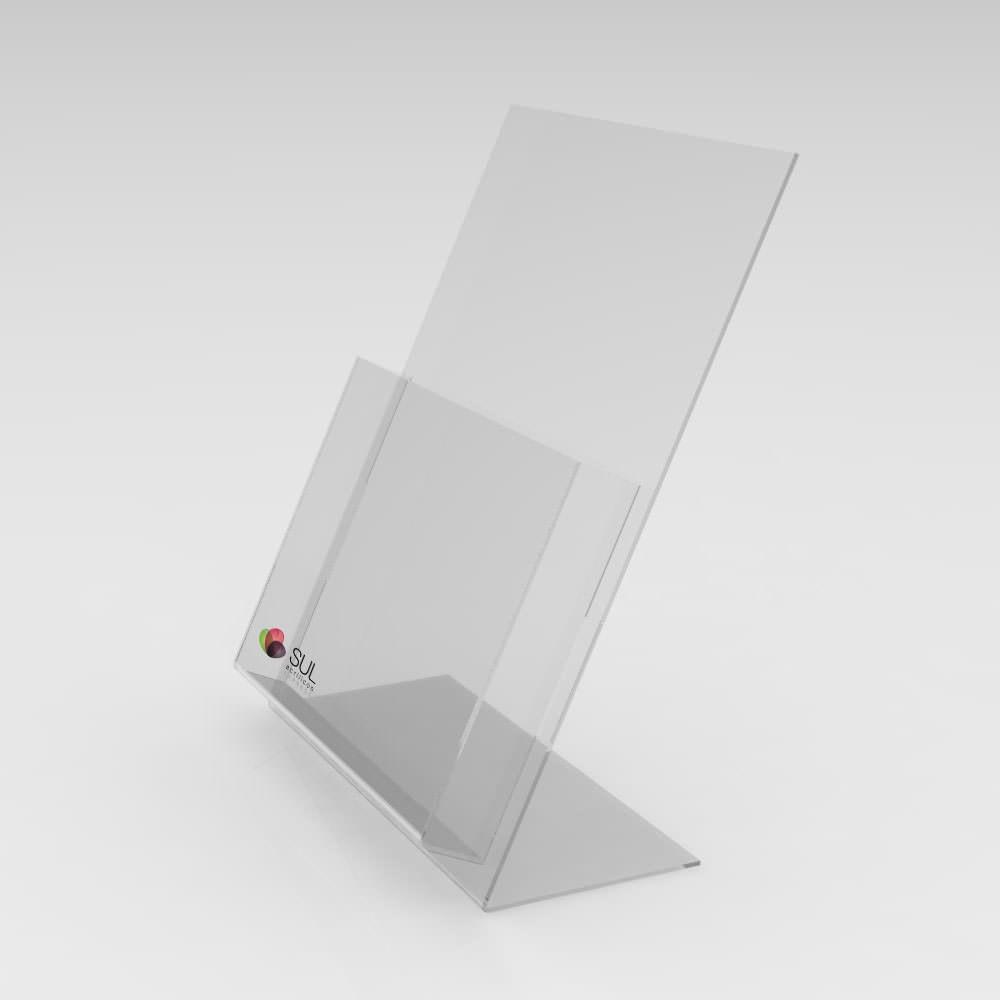 Porta Folder e Folhetos de Balcão A5 - Pacote com 4 Unidades