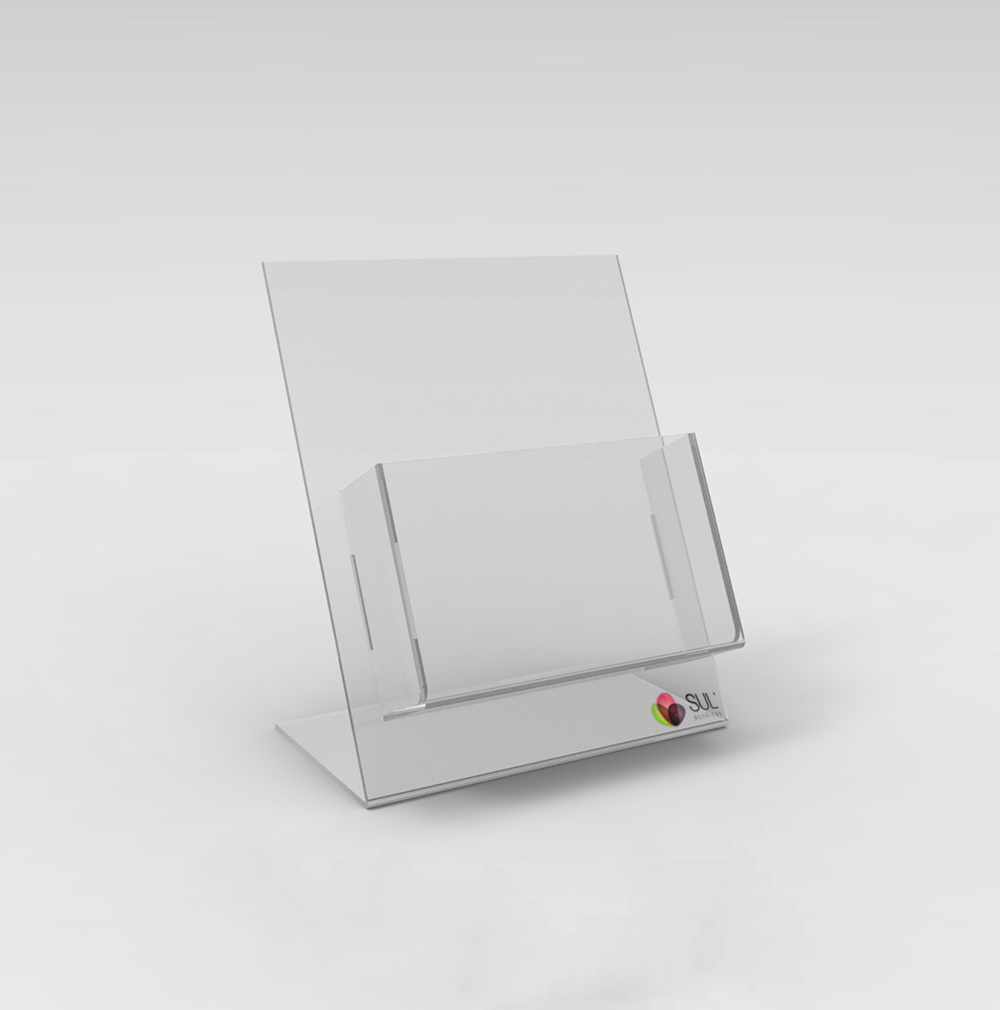 Porta Folder/Folhetos de Balcão A6 - Pacote com 4 Unidades
