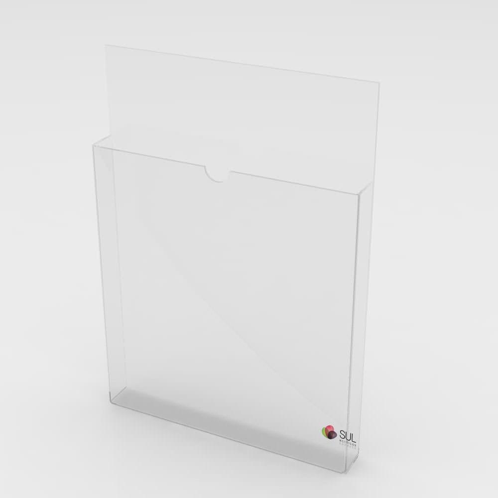 Porta Folhetos Retrato de Parede A4 - Pacote com 2 Unidades