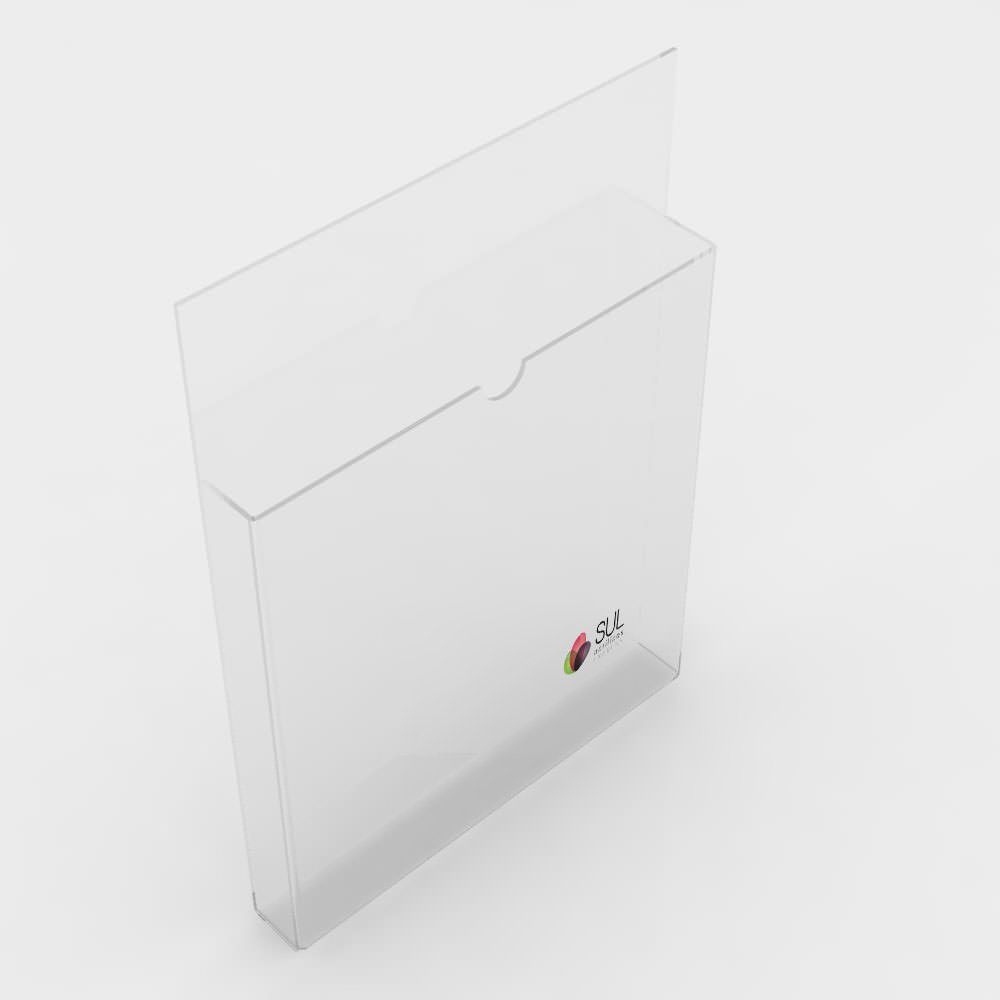 Porta Folhetos Retrato de Parede A6 - Pacote com 4 Unidades