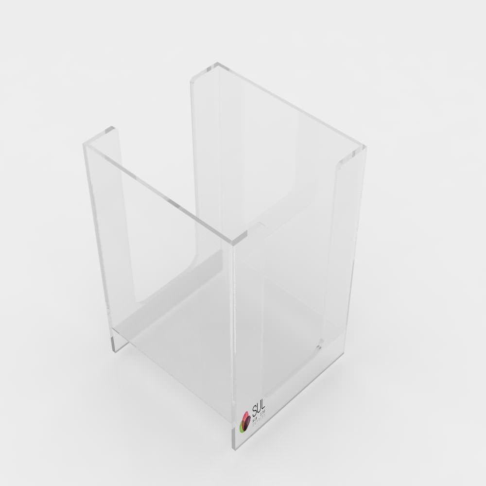 Suporte porta guardanapos em acrílico para folha 14x13cm grande - 5 unidades