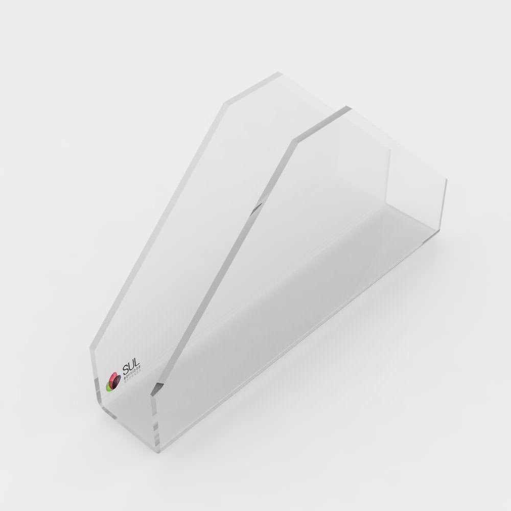 Suporte porta guardanapos em acrílico triangular - 10 unidades