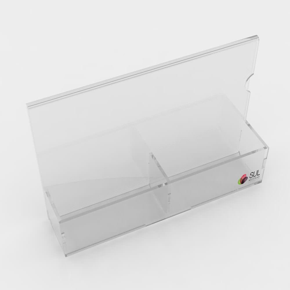 Porta Sachês 2 Divisões com Display A5 Paisagem - Pacote com 5 Unidades