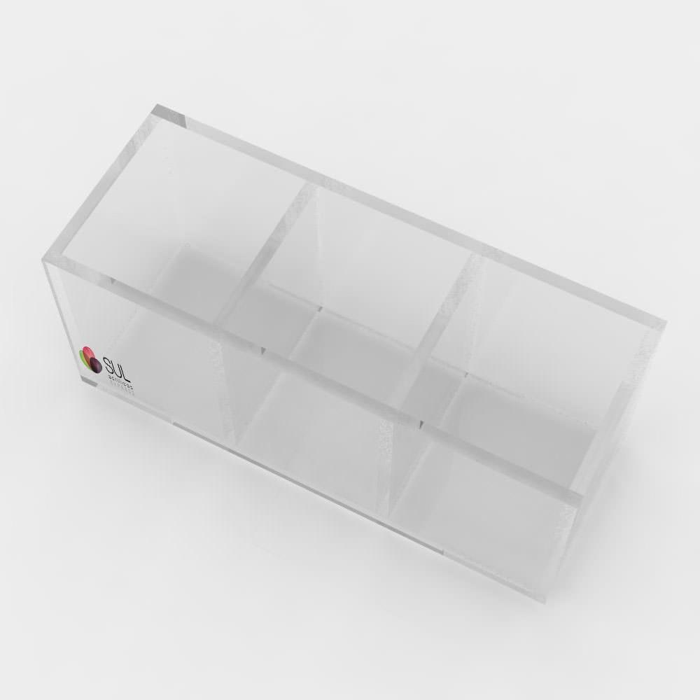 Porta Sachês - 3 Divisões - Pacote com 5 Unidades
