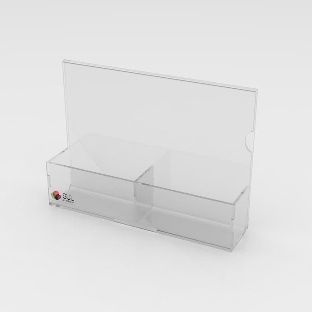 Porta Sachês com 2 Divisões e Display A5 - Pacote com 5 Unidades