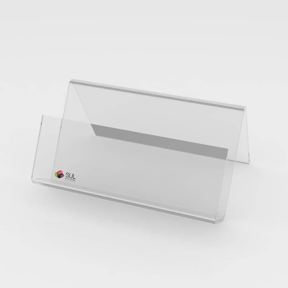 Display expositor porta cartões em acrílico - 10 unidades