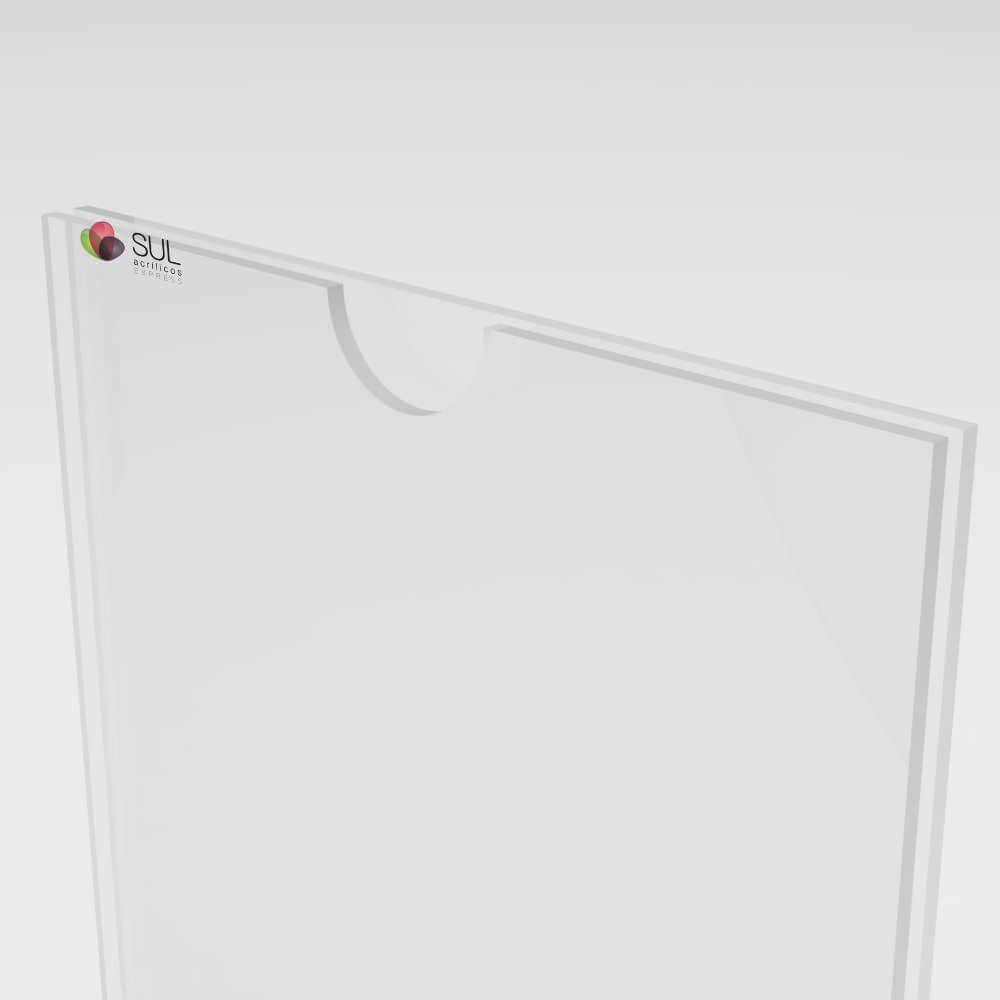 Display Sanduíche Porta Folha de Acrílico p/ Parede Vertical A3