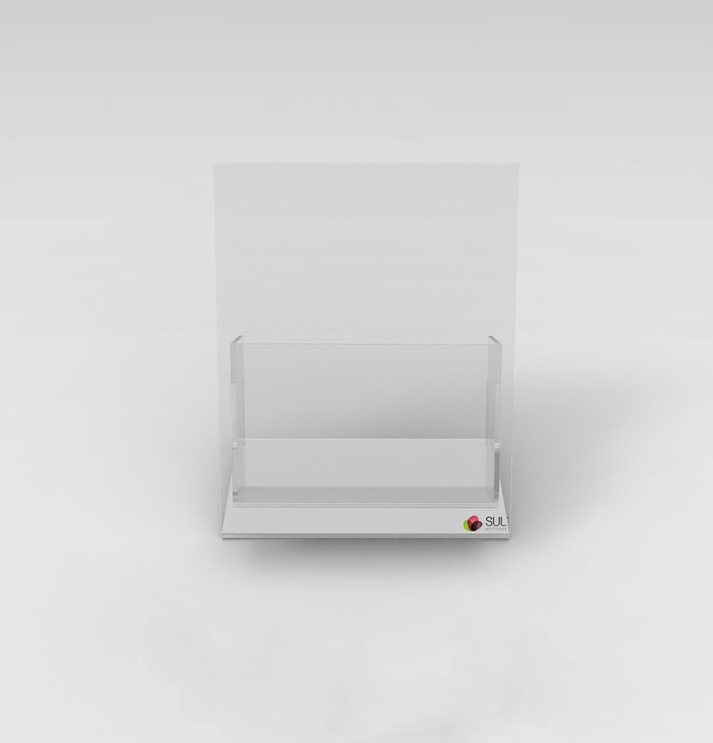 Display A6 porta folder e folhetos em acrílico para mesa ou balcão - 4 unidades