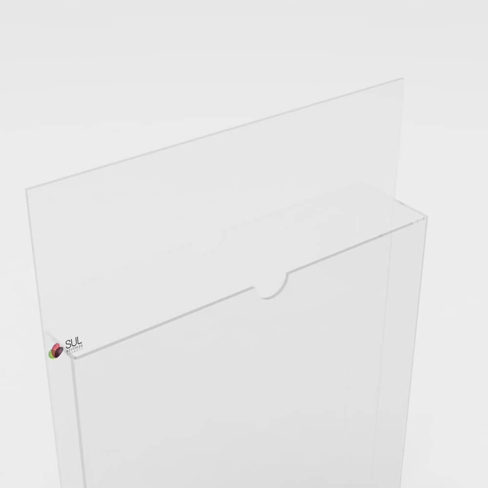 Display A5 vertical porta folder e folhetos em acrílico para parede