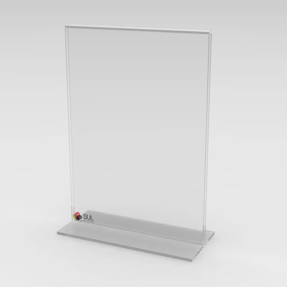 Display Porta Folha de Acrílico Vertical - Mod. T - Tam. A6