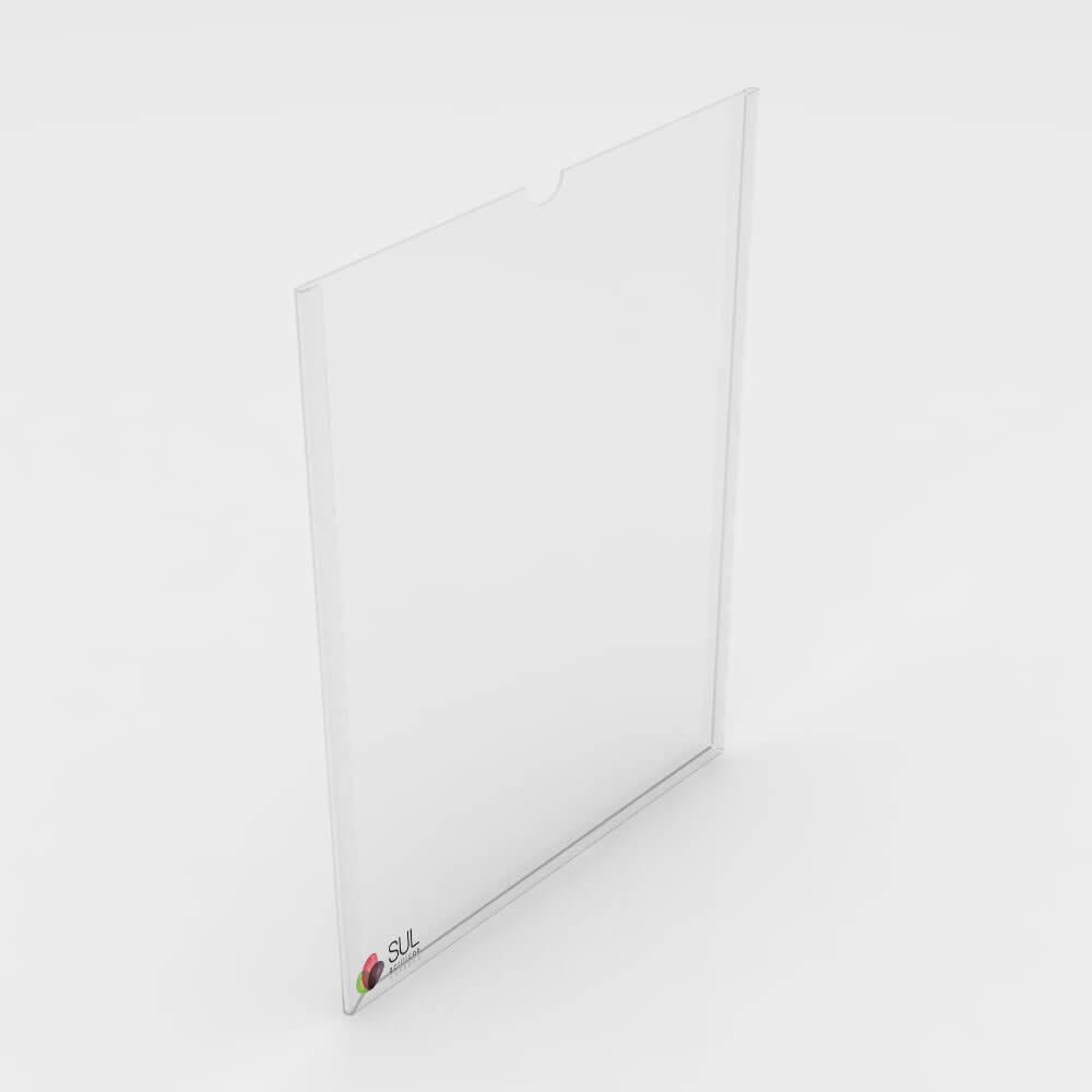 Display bolso folha A4 horizontal ou vertical para parede | 2 unidades