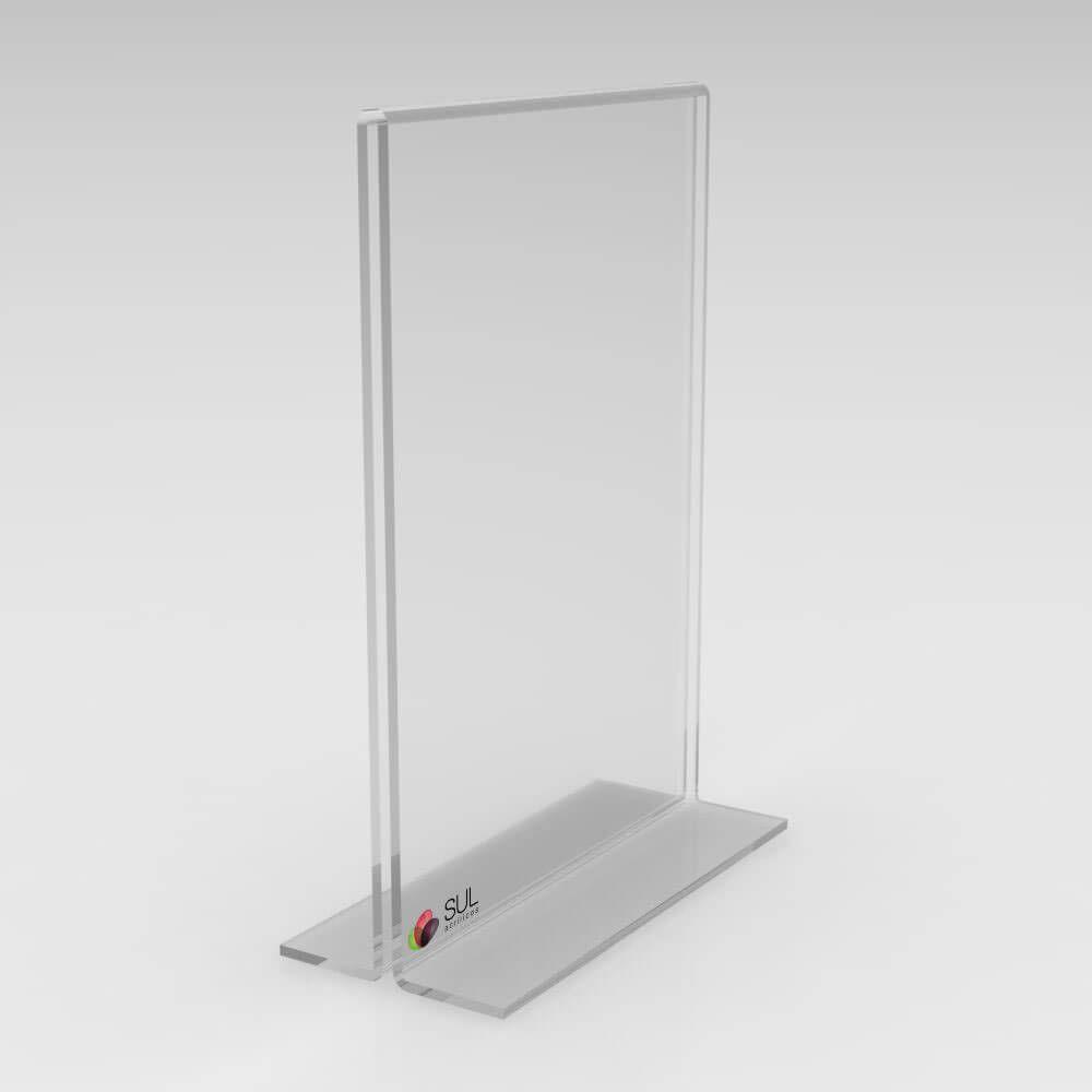 Display Porta Folha de Acrílico Vertical - Mod. T - Tam. A3