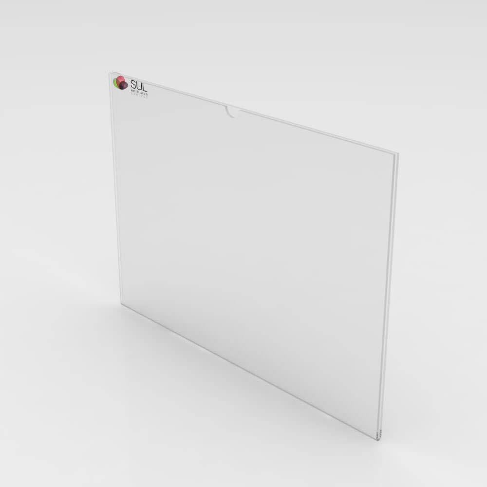 Display sanduíche dobrado porta folha A5 horizontal