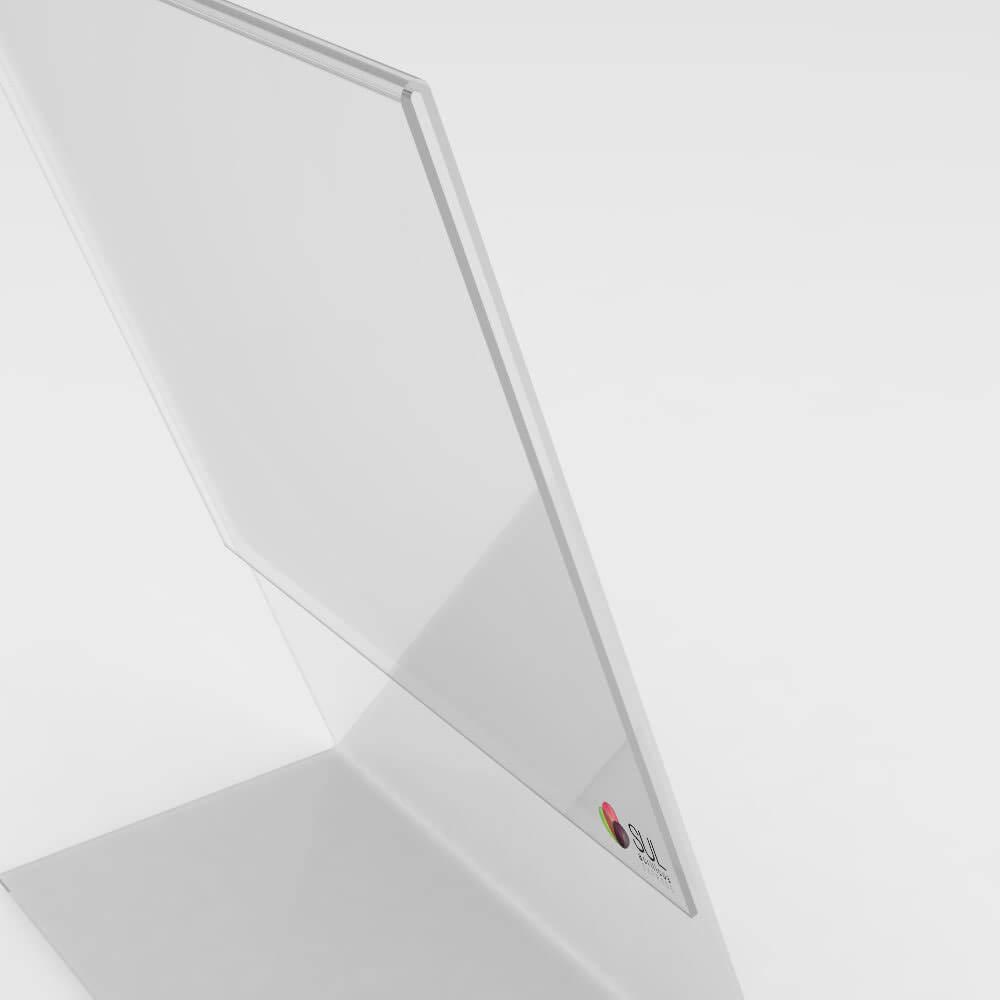 Display Porta Folha de Acrílico Vertical - Mod. L - Tam. A6