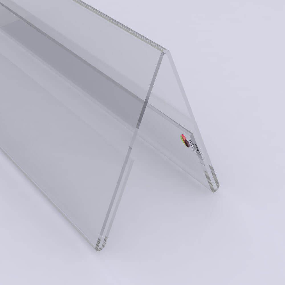 Display Prisma em Acrílico p/ Mesa, Balcão e Buffet | 21x08cm