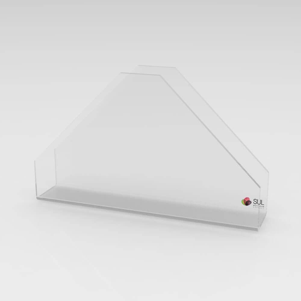 Porta Guardanapos de Acrílico Triangular - 10 unds