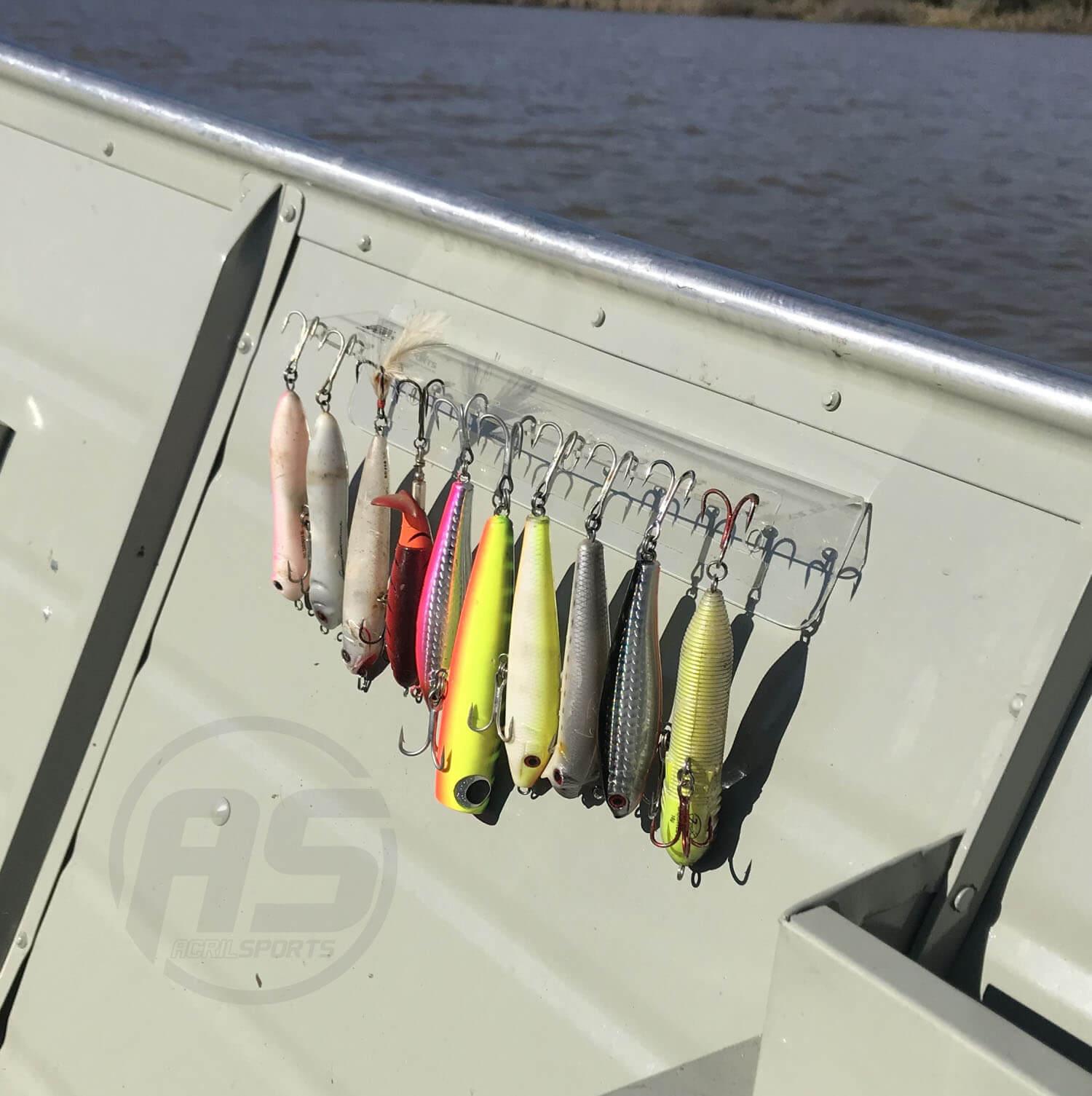 Suporte para organizar iscas para barco - Modelo Lambari