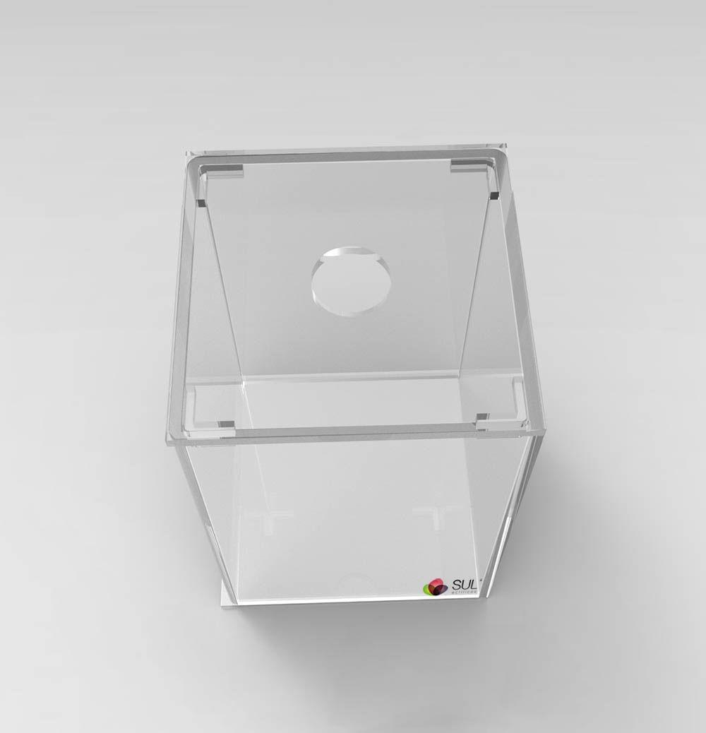 Pote caixa expositora porta alimentos - sementes, grãos, cereais, doces e frutas - 1,5L