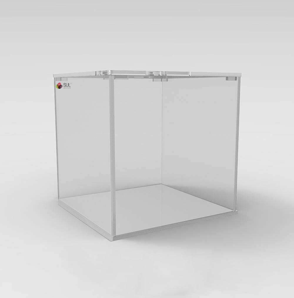 Pote caixa expositora porta alimentos - sementes, grãos, cereais, doces e frutas - 3,2L
