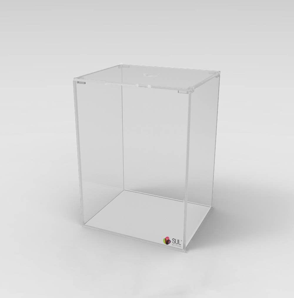 Pote caixa expositora porta alimentos - sementes, grãos, cereais, doces e frutas - 6L