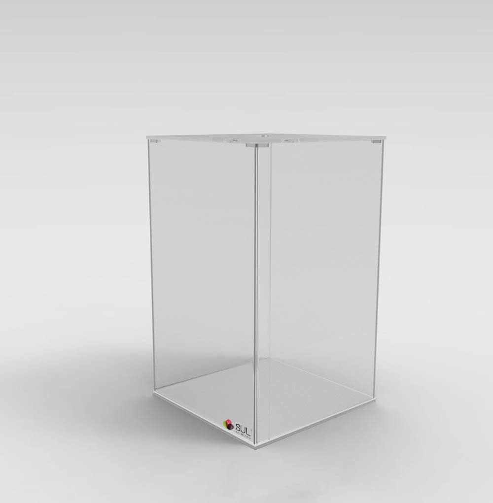 Pote caixa expositora porta alimentos - sementes, grãos, cereais, doces e frutas - 13L