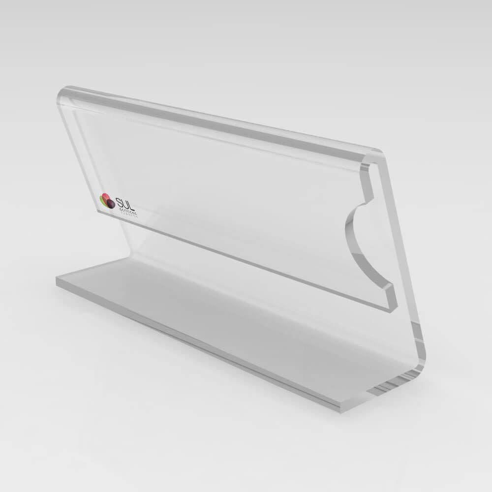 Porta Preços e Etiquetas em Acrílico 8cm x 4cm - 10 unds